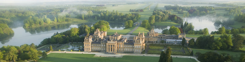 Blenheim Palace-Park and gardens-South Lawn-Aerial (2)